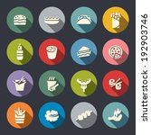 fast food icon set | Shutterstock .eps vector #192903746