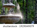 Old City Fountain Close Up. A...
