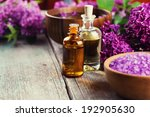 spa setting on old wooden... | Shutterstock . vector #192905630