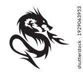 angry dragon simple vector...   Shutterstock .eps vector #1929063953