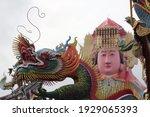 Colorful Ancient Dragon Head...