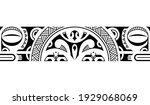 maori polynesian tattoo... | Shutterstock .eps vector #1929068069