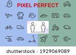 set of public transport related ... | Shutterstock .eps vector #1929069089