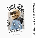 forever cool slogan with... | Shutterstock .eps vector #1929071720
