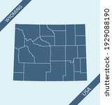 Wyoming counties map outlines blank