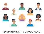 diversity people group avatars... | Shutterstock .eps vector #1929097649