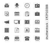 office supplies flat icons | Shutterstock .eps vector #192910388