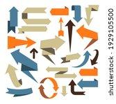 arrow set  volumetric arrow...   Shutterstock .eps vector #1929105500