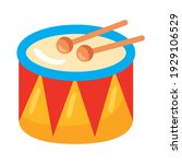drum kids toy isolated icon   Shutterstock .eps vector #1929106529