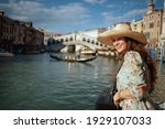 Smiling Young Tourist Woman In...