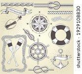 vintage seafaring elements ...   Shutterstock .eps vector #1929108830