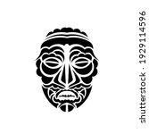 tiki mask. maori or polynesia...   Shutterstock .eps vector #1929114596