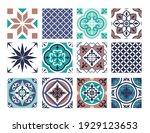 tile mosaic pattern vector... | Shutterstock .eps vector #1929123653