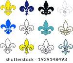 fleur de lis set. fleur de lis... | Shutterstock .eps vector #1929148493
