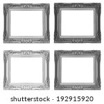 silver picture frame isolated... | Shutterstock . vector #192915920