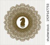 brown passport rosette. with...   Shutterstock .eps vector #1929167753
