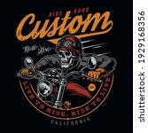 custom motorcycle vintage...   Shutterstock .eps vector #1929168356
