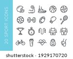 sport icons. set of 20 sport... | Shutterstock .eps vector #1929170720