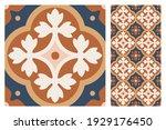 Set Of Patterned Azulejo Floor...