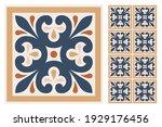 set of patterned azulejo floor... | Shutterstock .eps vector #1929176456