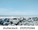 Light Blue Natural Rocky Beach...