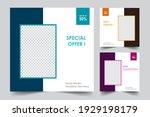 social media post templates.... | Shutterstock .eps vector #1929198179