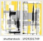 birch diptych  rough artistic...   Shutterstock .eps vector #1929201749