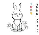 cute cartoon rabbit with...   Shutterstock .eps vector #1929221366