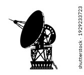 black silhouette of dish space...   Shutterstock .eps vector #1929233723