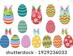 cute ribbon bunny ear easter egg   Shutterstock .eps vector #1929236033