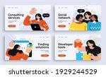 set of presentation slide...   Shutterstock .eps vector #1929244529