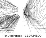abstract architecture | Shutterstock .eps vector #192924800