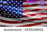 waving flag of usa. gradient... | Shutterstock .eps vector #1929248903