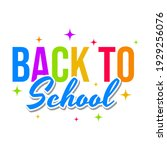 back to school text sign icon...   Shutterstock .eps vector #1929256076