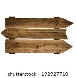wooden sign board. old post... | Shutterstock . vector #192927710