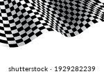 checkered flag wave on white... | Shutterstock .eps vector #1929282239