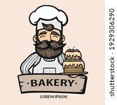 bakery logo. hand drawn vector...   Shutterstock .eps vector #1929306290