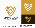 Shield Viking Emblem Logo...