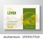 ripe fresh lemon food label...   Shutterstock .eps vector #1929317510