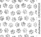 seamless pattern pet prints....   Shutterstock . vector #1929323210