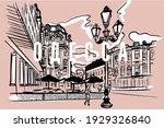 vector black lines cityscape of ...   Shutterstock .eps vector #1929326840