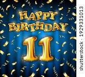 11 happy birthday message made...   Shutterstock .eps vector #1929331013