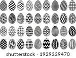 black and white easter egg... | Shutterstock .eps vector #1929339470