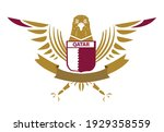 an insignia with qatar elements ...   Shutterstock .eps vector #1929358559