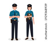 Police Officers Man And Woman...