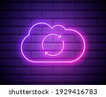 glowing neon cloud sync refresh ... | Shutterstock .eps vector #1929416783