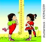 baby height measure  vector in...   Shutterstock .eps vector #192942359
