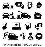 online shopping curbside pickup ... | Shutterstock .eps vector #1929436910