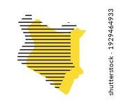 kenya   yellow country... | Shutterstock .eps vector #1929464933