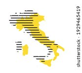 italy   yellow country... | Shutterstock .eps vector #1929465419